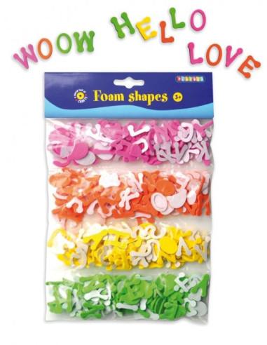 Foam Shapes, Alphabet, 400 Pcs