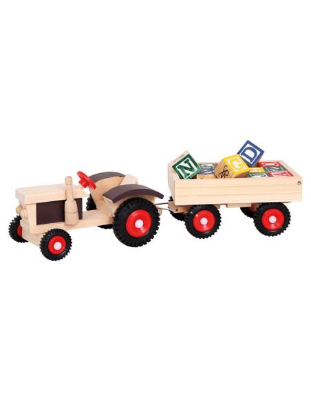 Tractor + Abc Trailer 17 Pcs