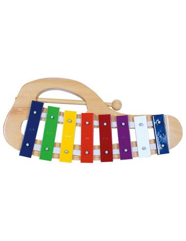 Xylofon, kovový obloukový