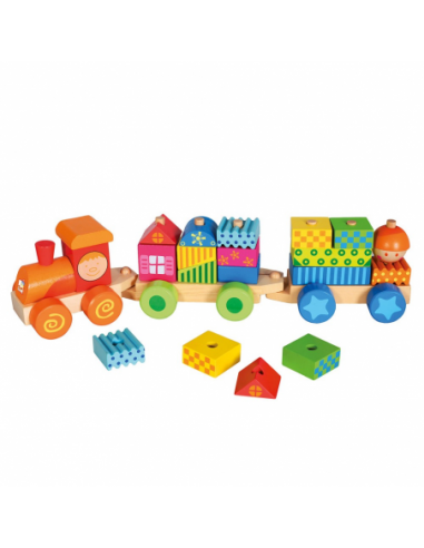 Train Set With Houses