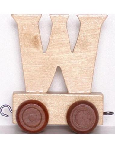 Vagónek W - hnědá kolečka