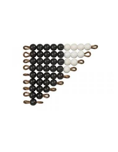 Černo-bílé korálkové schody (1-9)