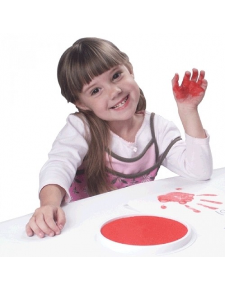 Kruhový polštářek - červená barva