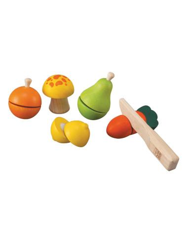 Sada ovoce a zeleniny - krájení
