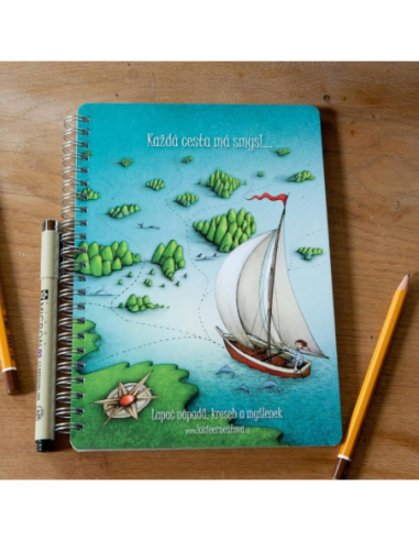 """Notebook Clean """"Every Journey Has A Sense"""""""