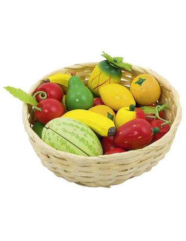 Kids Shop - Fruits In Basket, 23 Pcs