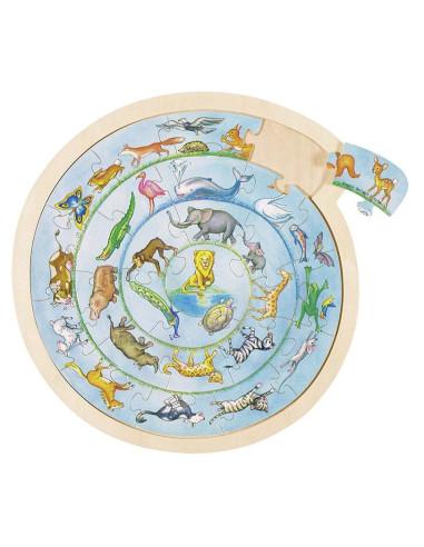 Puzzle Animals Circle