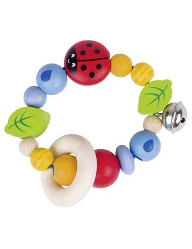 Hračka do ruky - perličky s beruškou a rolničkou
