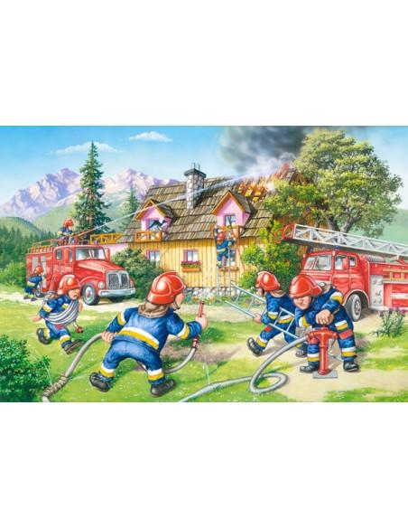 Puzzle - Firemen - 40 Maxi Pcs