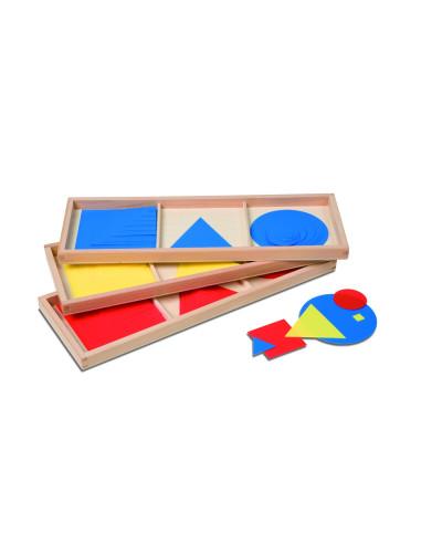 Nienhuis - Barevné kruhy, čtverce a trojúhelníky