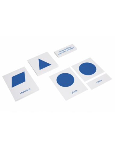 Nienhuis - Karty s obrázky a popisky ke Geometrické komodě, v anglickém jazyce