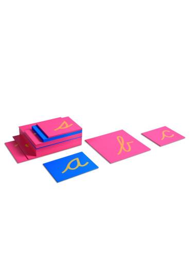 Nienhuis - Sandpaper Letters, Lower Case Cursive
