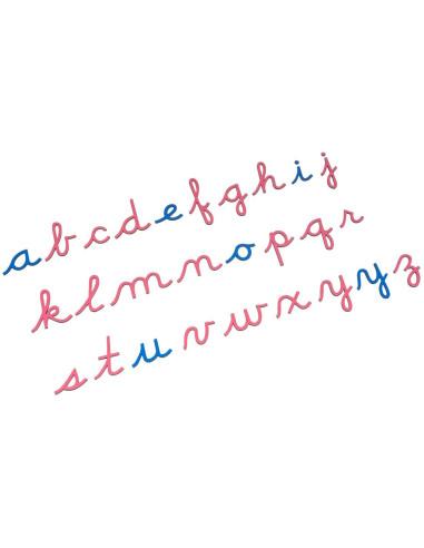 Nienhuis - Dřevěná pohyblivá abeceda (psací písmo - americká norma)
