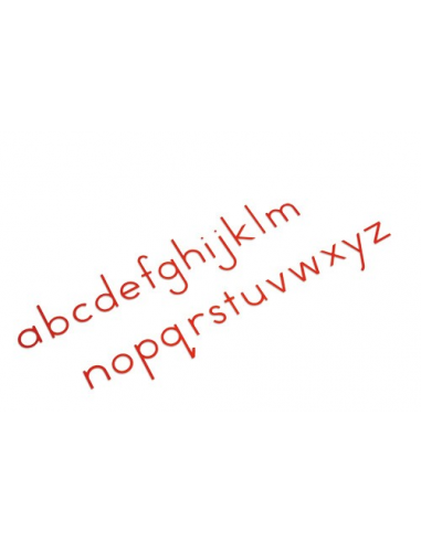 Nienhuis - Malá pohyblivá abeceda (tiskací červená písmena)