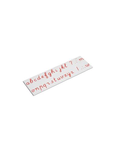 Nienhuis - Tištěná psací abeceda - červená písmena