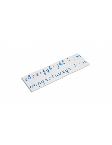 Nienhuis - Tištěná psací abeceda - modrá písmena