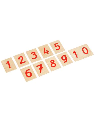 Nienhuis - Číslice k Červeno-modrým tyčím (mezinárodní styl psaní)