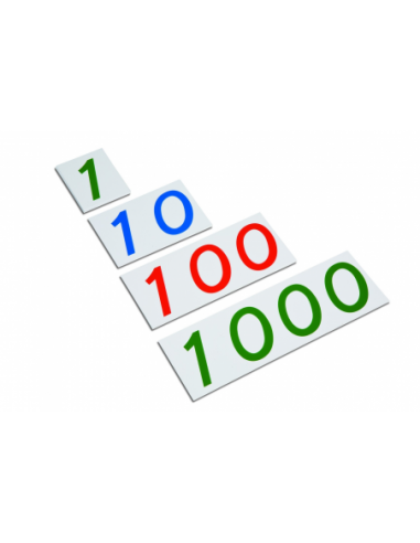 Nienhuis - Velké plastové karty s čísly  1 - 1000