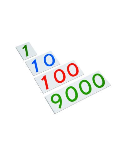 Nienhuis - Plastic Number Cards: Large, 1-9000