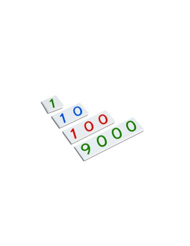 Nienhuis - Malé plastové karty s čísly  1 - 9000