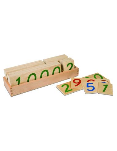 Nienhuis - Velké dřevěné karty s čísly 1 - 9000