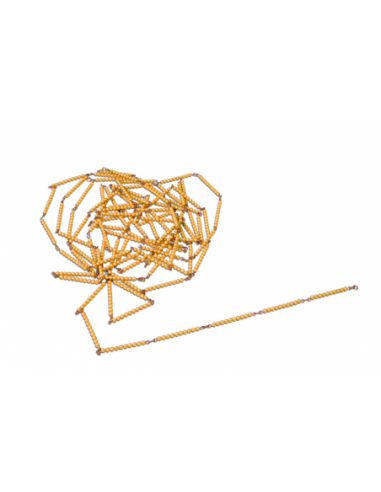 Nienhuis - Golden Bead Chain Of 1000: Individual Beads Nylon