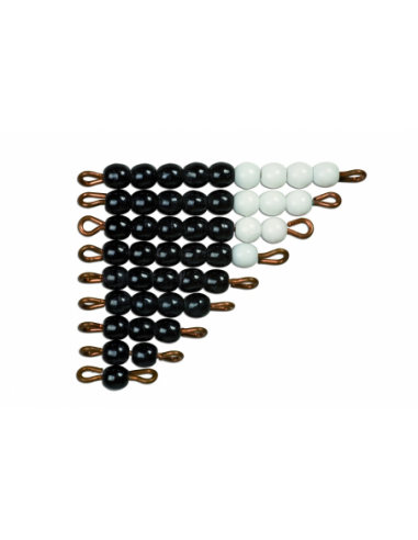 Nienhuis - Black And White Bead Stairs: Individual Beads Glass: 1 Set