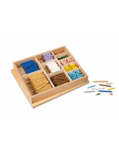 Nienhuis - Korálková krabice - barevné schody 1-10 (umělé perličky)