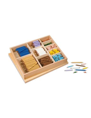 Nienhuis - Multiplication Bead Bar Layout Box: Individual Beads Glass