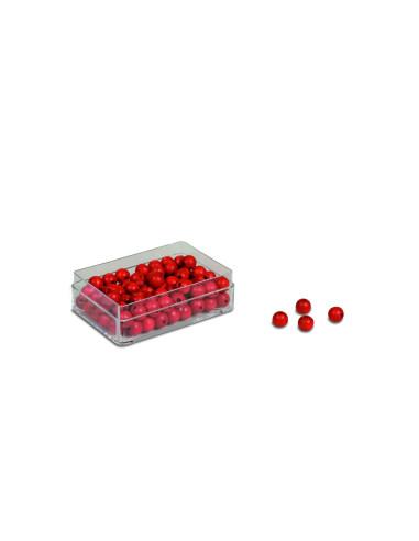 Nienhuis - Červené korálky 100 kusů