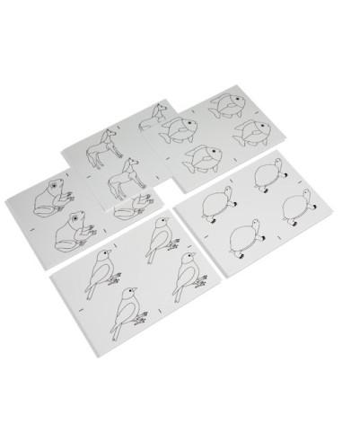 Nienhuis - Kopírovací vzory pro puzzle živočichů