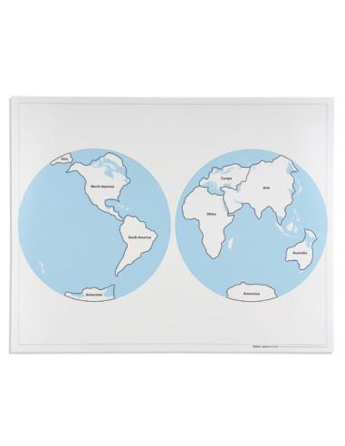 Nienhuis - Kontrolní mapa - světa - s popisky