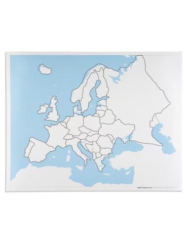 Nienhuis - Kontrolní mapa - Evropa - bez popisku