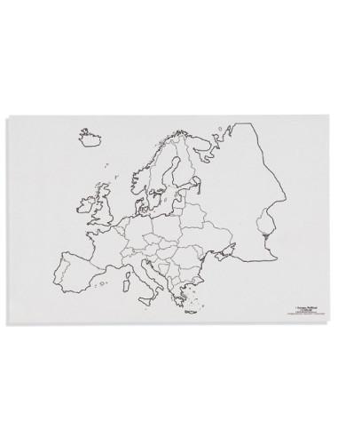 Nienhuis - Mapa Evropy – politická