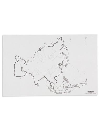 Nienhuis - Mapa Asie – vodní toky