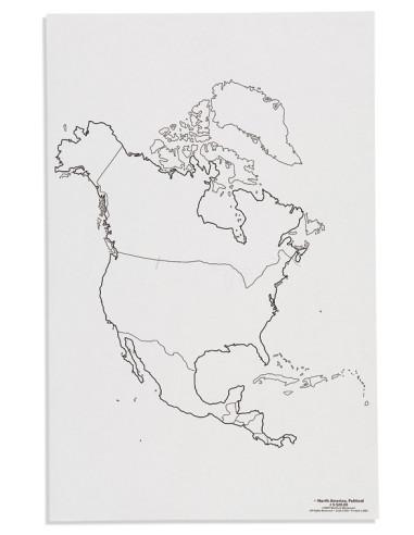 Nienhuis - Mapa Severní Ameriky – politická