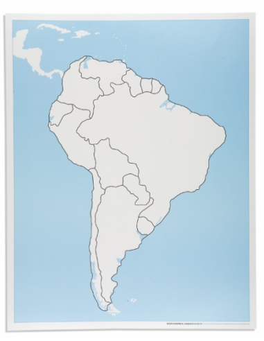Nienhuis - South America Control Map: Unlabelled