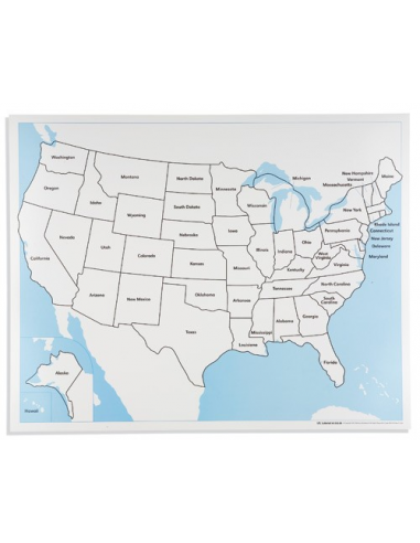 Nienhuis - United States Control Map: Labelled