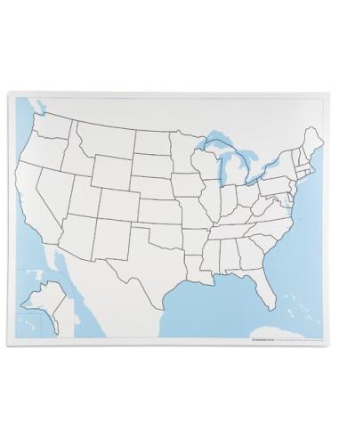 Nienhuis - United States Control Map: Unlabelled