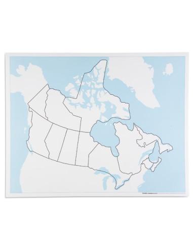 Nienhuis - Kontrolní mapa Kanady - bez popisků