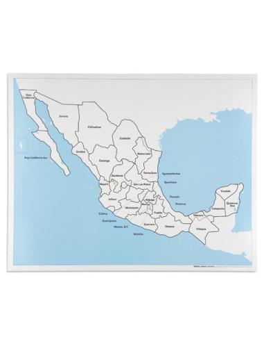 Nienhuis - Kontrolní mapa Mexika - s popisky