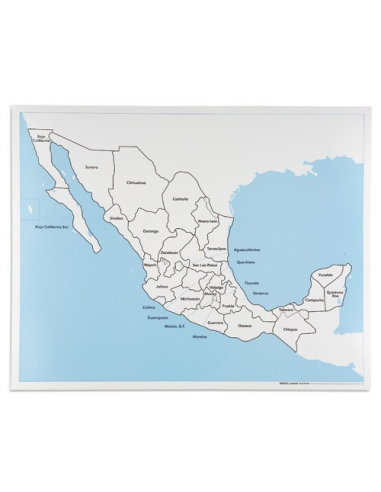Nienhuis - Mexico Control Map: Labelled
