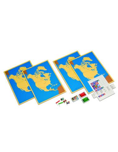 Nienhuis - Čtyři mapy Severní Ameriky