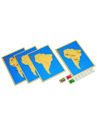 Nienhuis - Four Maps Of South America