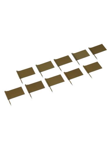 Nienhuis - Zlaté vlaječky pro označování států, 10 kusů