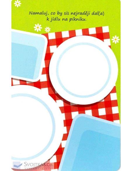Domalovánky na kartách – Na prázdninách