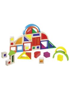 Duhová stavebnice s barevnými okénky