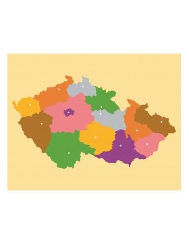 Nienhuis - puzzle mapa České republiky