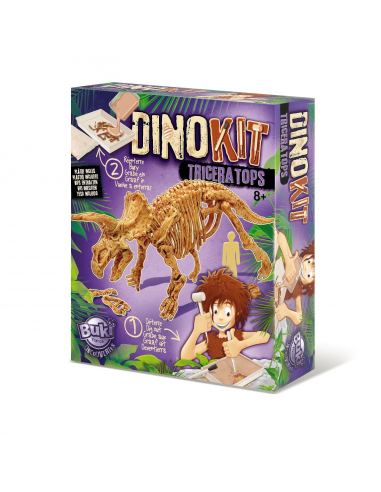 DINOKIT - Vykopávka a kostra Triceratops