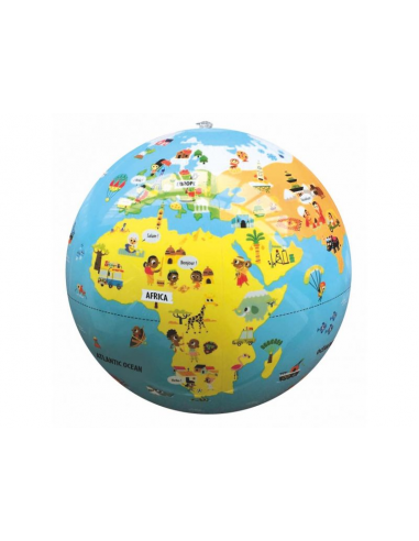 Nafukovací globus 30 cm - Malý cestovatel
